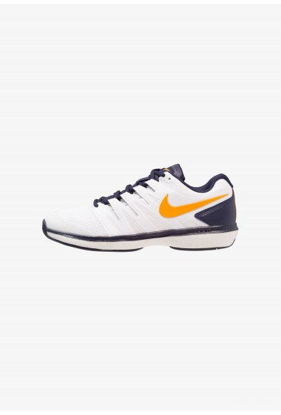 Nike AIR ZOOM PRESTIGE HC - Baskets tout terrain white/orange peel/blackened blue/phantom