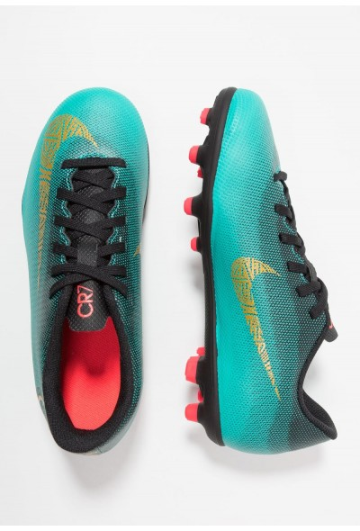 Nike VAPOR 12 CLUB CR7 MG - Chaussures de foot à crampons clear jade/metallic vivid gold/black/hyper turquoise/solar red