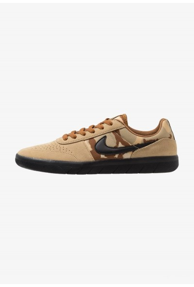 Nike TEAM CLASSIC - Baskets basses parachute beige/black/ale brown/club gold