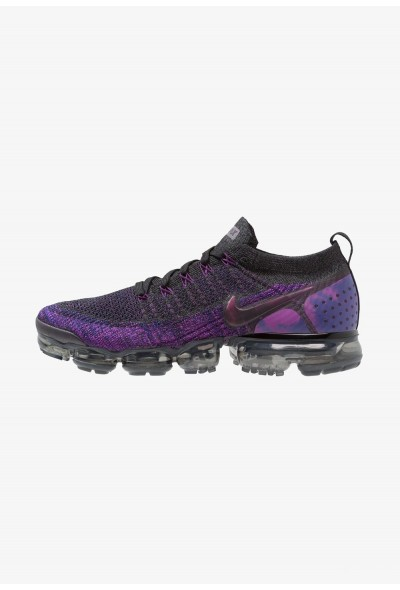 Nike AIR VAPORMAX FLYKNIT - Chaussures de running neutres black/night purple/vivid purple/regency purple