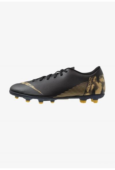 Nike MERCURIAL VAPOR 12 CLUB MG - Chaussures de foot à crampons black/metallic vivid gold
