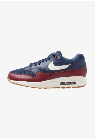 Nike AIR MAX 1 - Baskets basses navy/sail/team red/medium brown/tan