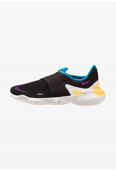 Nike FREE RN FLYKNIT 3.0 - Chaussures de course neutres black/hyper violet/laser orange