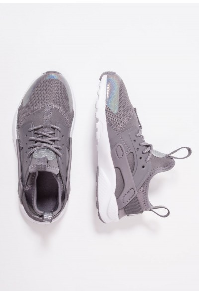 Nike HUARACHE RUN ULTRA - Baskets basses gunsmoke/metallic silver/white