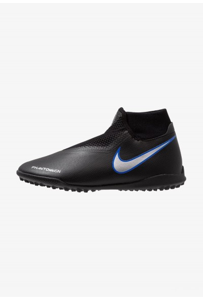 Nike PHANTOM OBRAX 3 ACADEMY DF TF - Chaussures de foot multicrampons black/metallic silver/racer blue