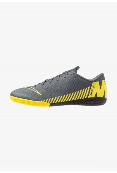 Nike MERCURIAL VAPORX 12 ACADEMY IC - Chaussures de foot en salle dark grey/black/opti yellow