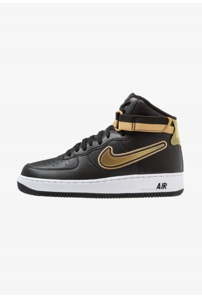 Nike AIR FORCE 1 '07 LV8 SPORT - Baskets montantes black/metallic gold/white