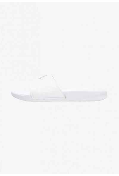 Nike BENASSI JDI - Mules white/metallic silver