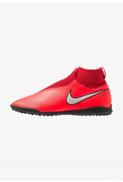 Nike PHANTOM REACT OBRA PRO TF - Chaussures de foot multicrampons bright crimson/metalic silver/university red/black