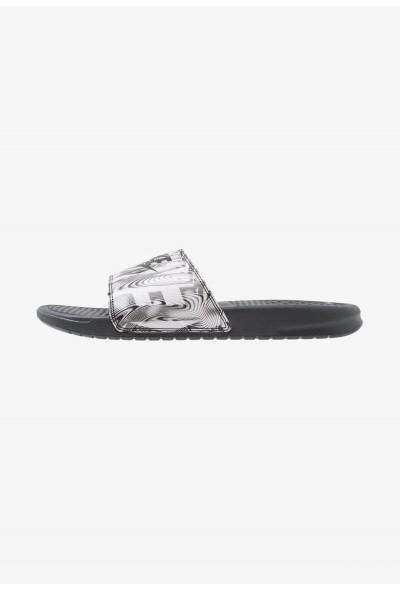 Nike BENASSI JDI PRINT - Mules anthracite/black