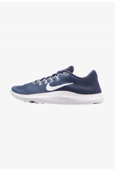 Nike FLEX 2018 RUN - Chaussures de course neutres midnight navy/white/blue recal