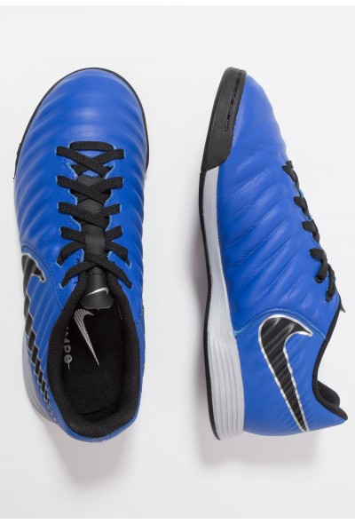 Nike TIEMPO LEGENDX 7 ACADEMY IC - Chaussures de foot en salle racer blue/black/metallic silver