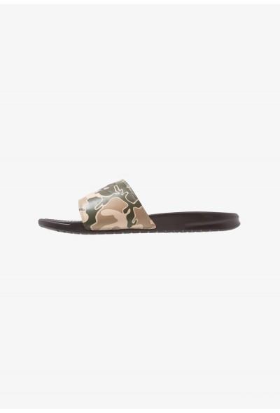 Nike BENASSI JDI PRINT - Mules brown