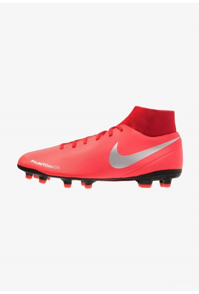 Nike PHANTOM OBRA 3 CLUB DF MG - Chaussures de foot à crampons bright crimson/metallic silver/university red/black