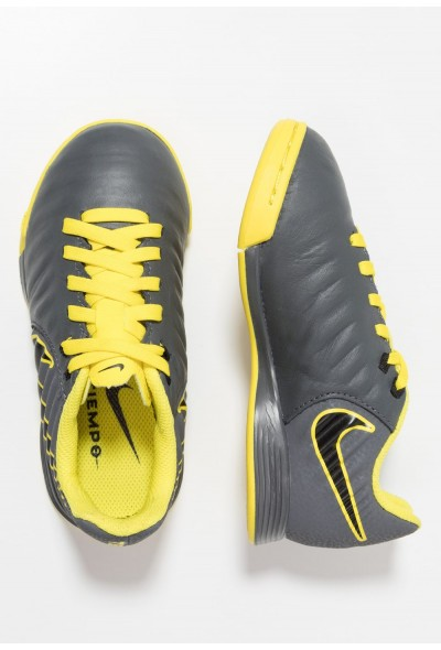Nike TIEMPO LEGENDX 7 ACADEMY IC - Chaussures de foot en salle dark grey/black/opti yellow