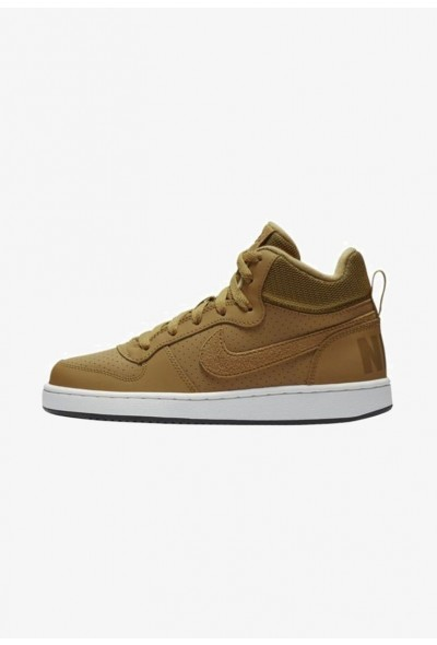 Nike COURT BOROUGH MID - Baskets montantes - light brown/ off light brown/ off-white/ black