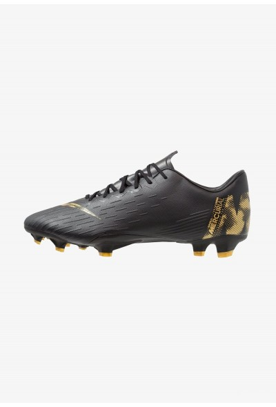 Nike MERCURIAL VAPOR 12 PRO FG - Chaussures de foot à crampons black/metalic vivid gold