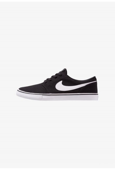 Nike PORTMORE II SS CNVS - Baskets basses black/white