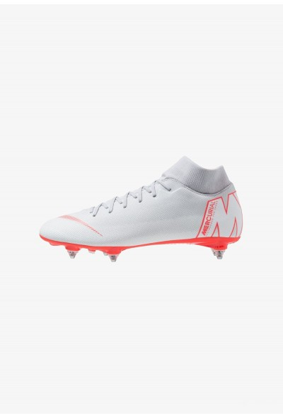 Nike MERCURIAL 6 ACADEMY SGPRO - Chaussures de foot à lamelles wolf grey/light crimson/pure platinum/metallic silver