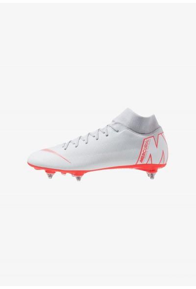 Nike MERCURIAL 6 ACADEMY SGPRO - Chaussures de foot à lamelles wolf grey/light crimson/pure platinum/metallic silver