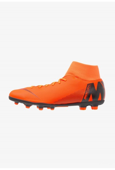 Nike MERCURIAL 6 CLUB MG - Chaussures de foot à crampons total orange/white/volt/black