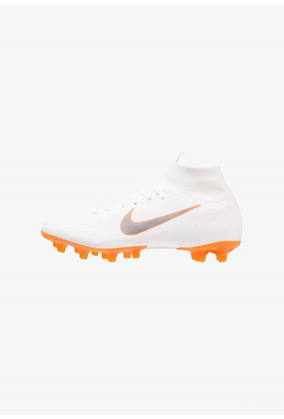 Nike MERCURIAL 6 PRO AG PRO - Chaussures de foot à crampons white/chrome/total orange