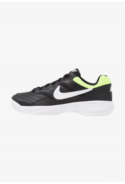 Nike COURT LITE - Baskets tout terrain black/white/volt glow