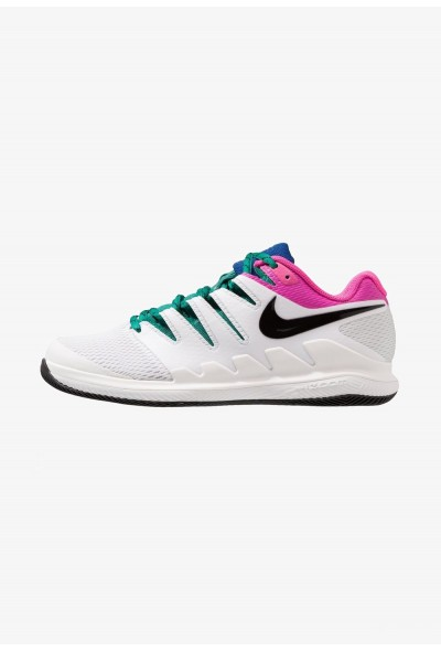 Nike AIR ZOOM VAPOR X HC - Baskets tout terrain white/black/platinum tint/laser fuchsia/indigo force