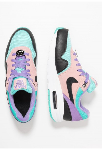 Nike AIR MAX 1 DAY  - Baskets basses black/white/space purple/bleached coral/hyper jade