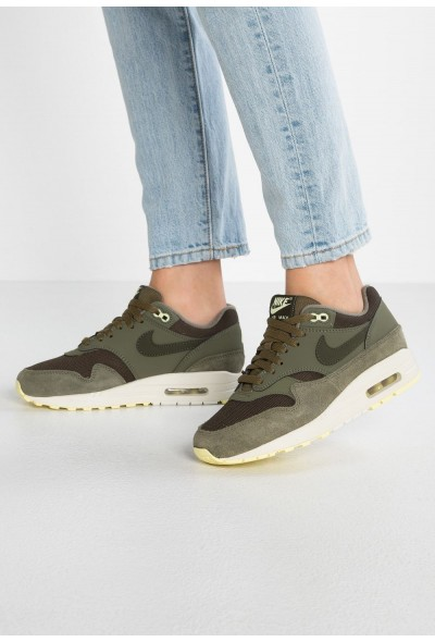 Black Friday 2019 - Nike AIR MAX 1 - Baskets basses sequoia/medium olive/luminous green/summit white