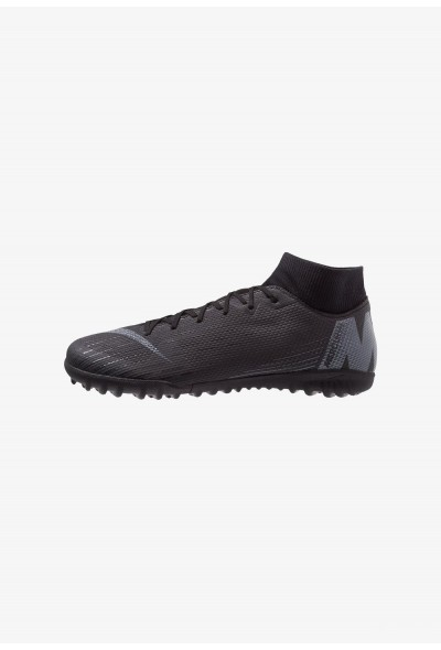 Nike MERCURIAL SUPERFLYX 6 ACADEMY TF - Chaussures de foot multicrampons black/anthracite/light crimson