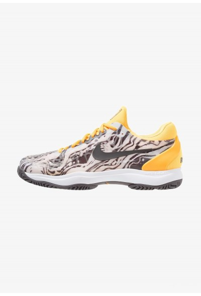 Nike AIR ZOOM CAGE 3 HC - Chaussures de tennis sur terre battue pure platinum/thunder grey/laser orange/white