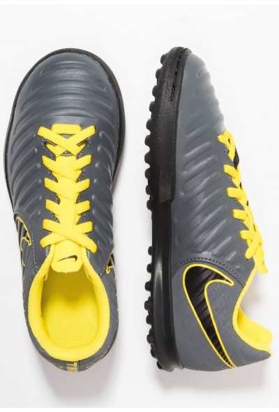 Nike TIEMPO LEGENDX 7 CLUB TF - Chaussures de foot multicrampons dark grey/black/opti yellow