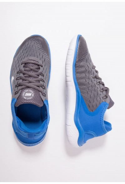 Nike FREE RN 2018 - Chaussures de course neutres gunsmoke/white/signal blue/thunder grey