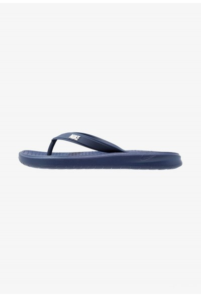 Nike SOLAY THONG - Tongs blau/weiß