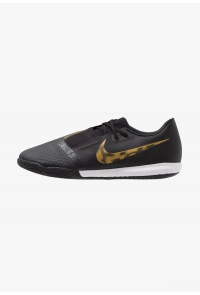 Nike PHANTOM ACADEMY IC - Chaussures de foot en salle black/metallic vivid gold