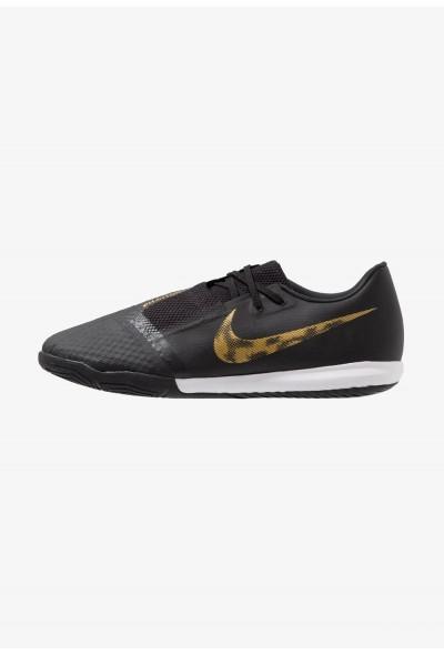 Nike PHANTOM ACADEMY IC - Chaussures de foot en salle black/metallic vivid gold