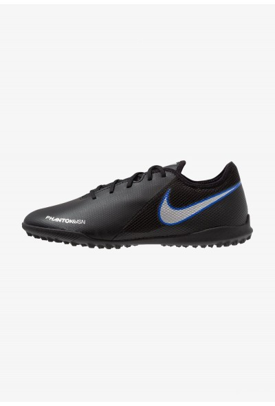 Nike PHANTOM  VSN ACADEMY TF - Chaussures de foot multicrampons black/metallic silver/racer blue