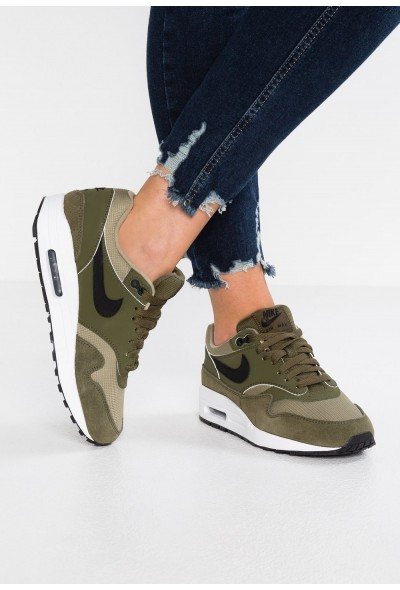 Nike AIR MAX 1 - Baskets basses olive/black/neutral olive/white