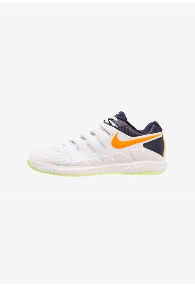Nike AIR ZOOM VAPOR X CPT - Chaussures de tennis en salle phantom/orange peel/blackened blue/white/volt glow