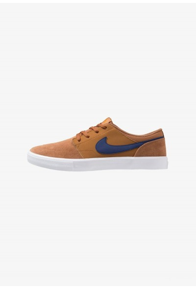 Nike SOLARSOFT PORTMORE  - Baskets basses light british tan/blue void/black/monarch