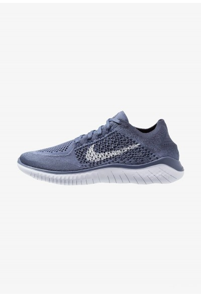 Nike FREE RUN FLYKNIT 2018 - Chaussures de course neutres diffused blue/thunder blue/blue void/football grey