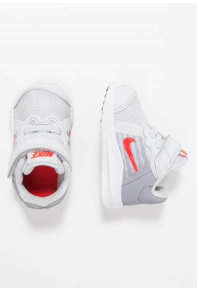 Nike DOWNSHIFTER  - Chaussures de running neutres - pure platinum/habanero red/stealth pure platinum/habanero red/stealth-black