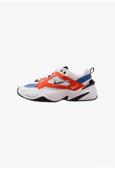 Nike M2K TEKNO - Baskets basses summit white/black/team orange/mountain blue
