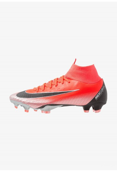 Nike PRO CR7 FG - Chaussures de foot à crampons bright crimson/black/chrome/dark grey