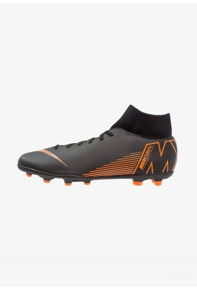 Black Friday 2019 - Nike MERCURIAL 6 CLUB MG - Chaussures de foot à crampons black/total orange/white