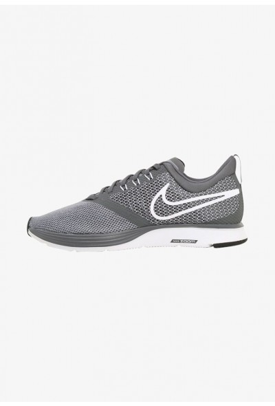 Nike ZOOM STRIKE - Chaussures de running neutres - dark grey/white-stealth dark grey/white-stealth-black