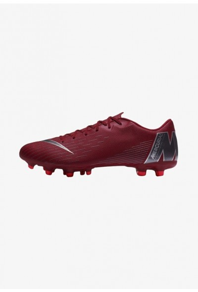 Nike MERCURIAL VAPOR 12 ACADEMY MG - Chaussures de foot à crampons bordeaux/dark grey