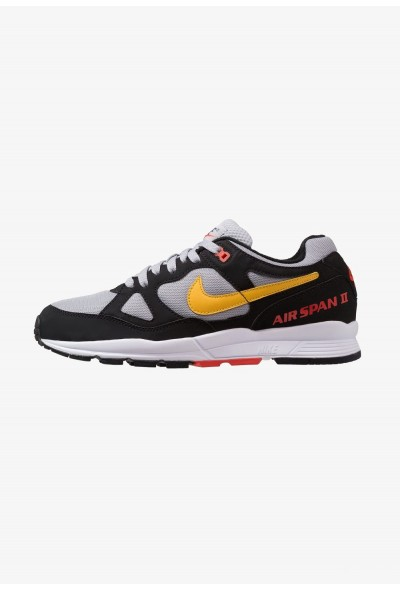 Nike AIR SPAN II - Baskets basses black/yellow ochre/wolf grey/habanero red/white