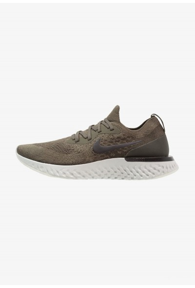 Nike EPIC REACT FLYKNIT - Chaussures de running neutres cargo khaki/black/sequioa
